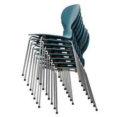 Arne Jacobsen Dining Chairs Model Ant by Fritz Hansen in Denmark