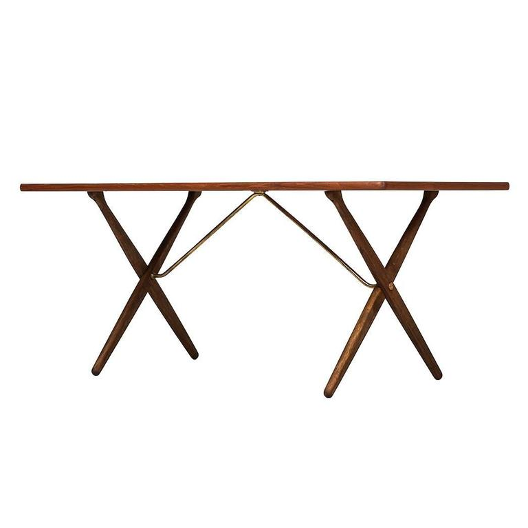 Hans Wegner Dining Table/Desk Model At-303 by Andreas Tuck in Denmark For Sale