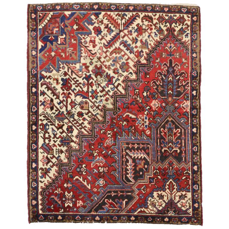 Vintage Persian Heriz With Modern Traditional Style At 1stdibs