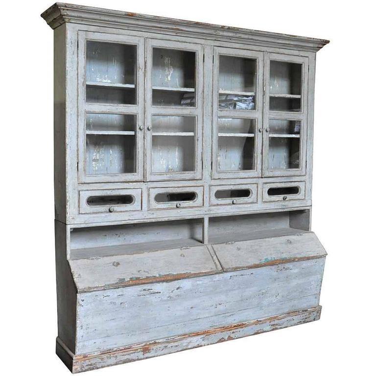Spanish 19th Century Grenotier, Grain Storage Cabinet