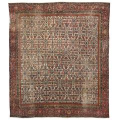 Antique Persian Mahal Rug with Traditional Modern Style, Herati Mahal Rug
