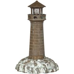 Bronze Lighthouse Lamp