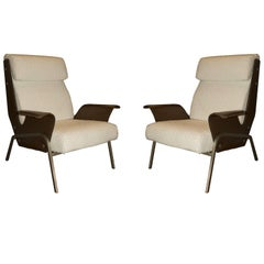 Pair of Alba Lounge Chairs by Gustavo Pulitzer for Arflex, made in Italy, 1959