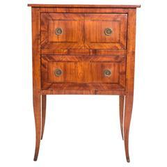 Directoire Style Walnut Side Cabinet