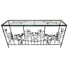 Magnificent Giacometti Style Hand-Forged Console Table