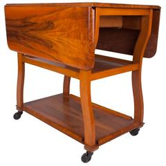 Art Deco Drop-Leaf Table Trolley