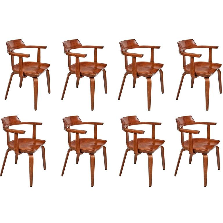 Set of Eight Dining Chairs by Walter Gropius For Sale