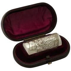 Sterling Silver Scent Flask by Sampson Mordan & Co., Antique Victorian