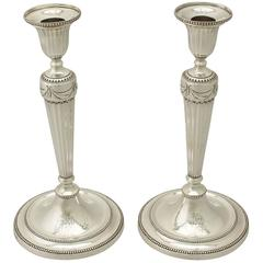 Sterling Silver Candlesticks - Antique George III