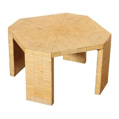 Karl Springer Inlaid Bone Coffee Table