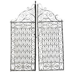 Antique Iron Garden Gate
