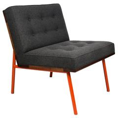 DGD Lounge Chair Wool Upholstery, Powder Coated Steel, Walnut