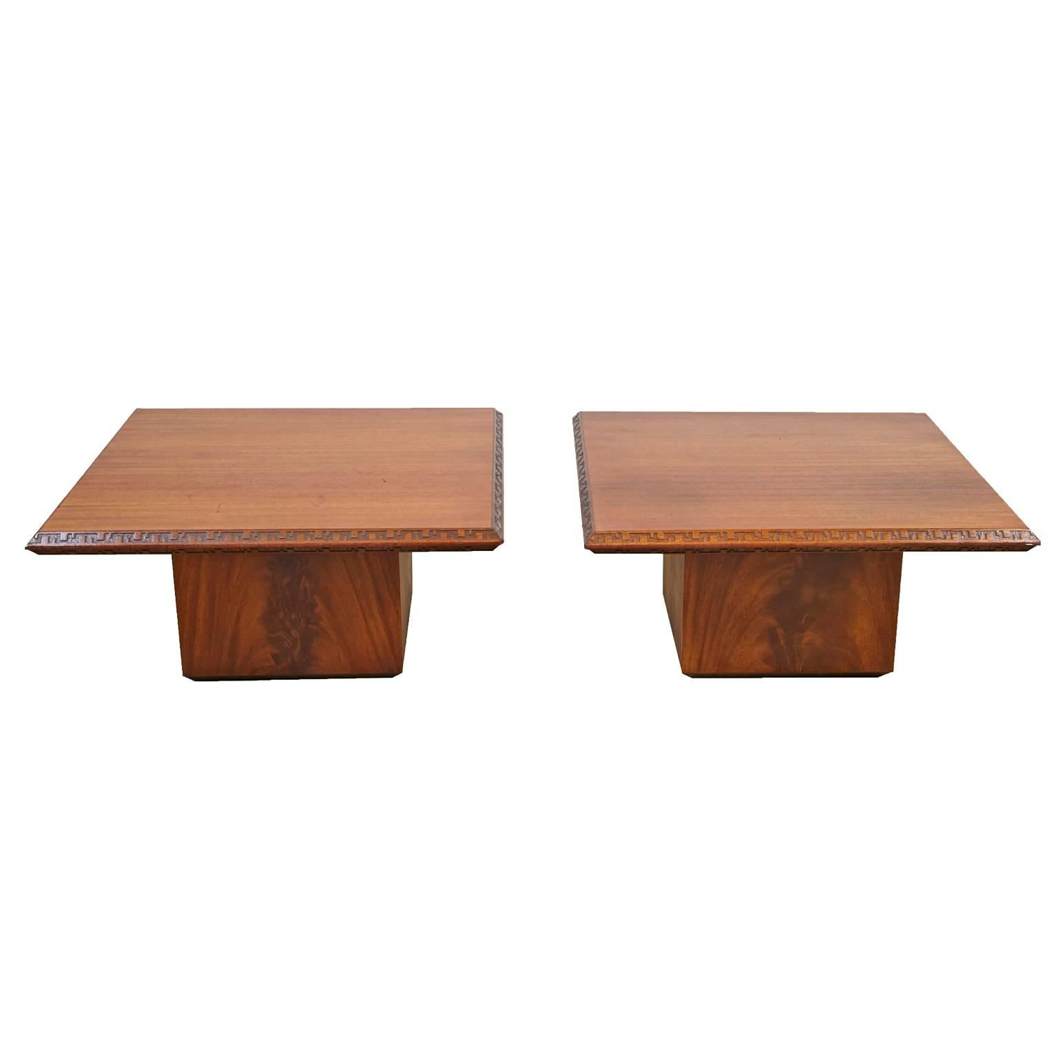 Pair of Frank Lloyd Wright End Tables for Heritage Henredon