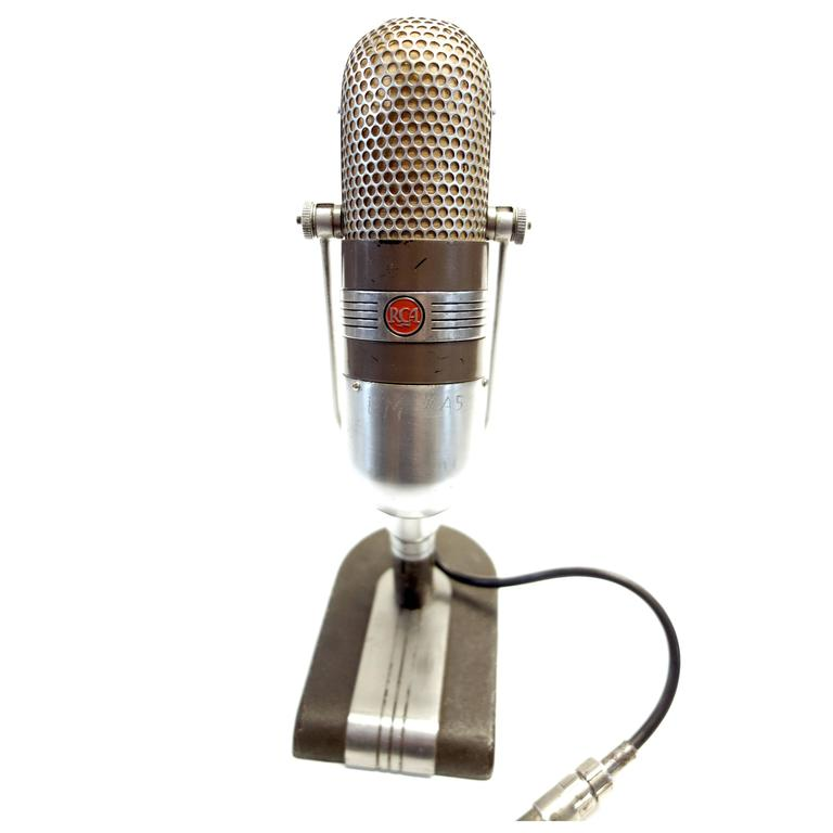 Coach Bear Bryant Use History Iconic 1950s RCA Studio Mic As Sculpture ON SALE