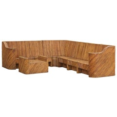Exceptional Restored Vintage Bamboo Seven-Piece Seating Set