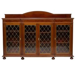 English Mahogany Credenza Bookcase