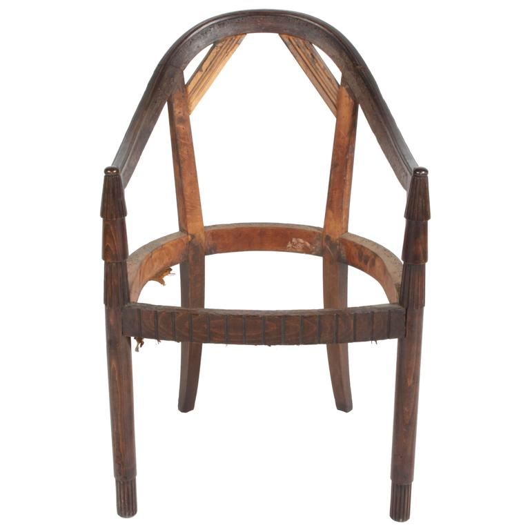 Nice French Art Deco Armchair Frame For Sale