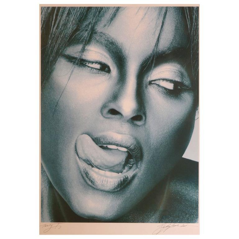 Bob Carlos Clarke, ''Tasty T'', 1989 Giclée Print, Signed For Sale