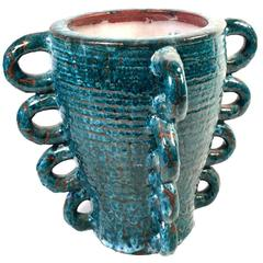 Accolay Blue Glazed Vase