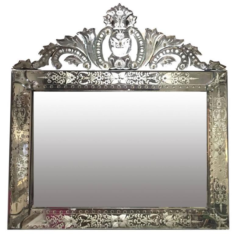 Rectangular Italian Venetian Mirror