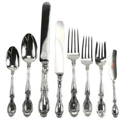 Eight-Piece Sterling Silver Flatware Service for 12 in Richelieu by Tiffany & Co