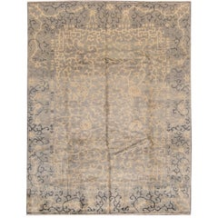 21st C. Contemporary Blue, Beige Chinese-Style Rug