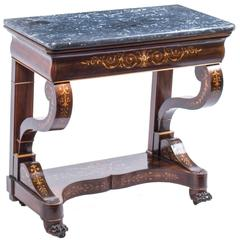 19th Century Charles X Period Rosewood Inlaid Console Table