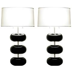 Pair of Table Lamps by Karl Springer, 1970s
