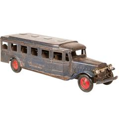 1920s Vintage Cor-Cor Toy Bus with Working Lights