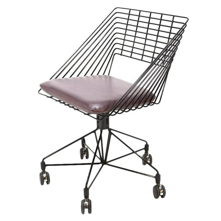 Verner Panton Wire Desk Chair For