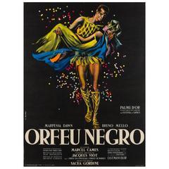 Black Orpheus Original French Film Poster, Georges Allard, 1959