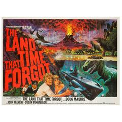 """The Land That Time Forgot"" Original UK Film Poster, Tom Chantrell, 1975"