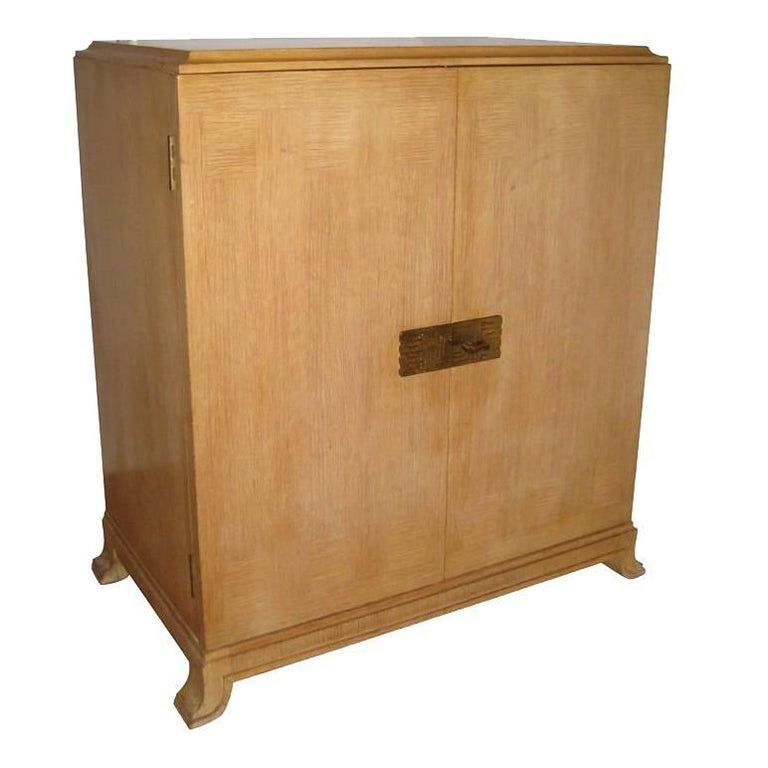 Tommi Parzinger Cerused Oak Chest for Charak Modern For Sale