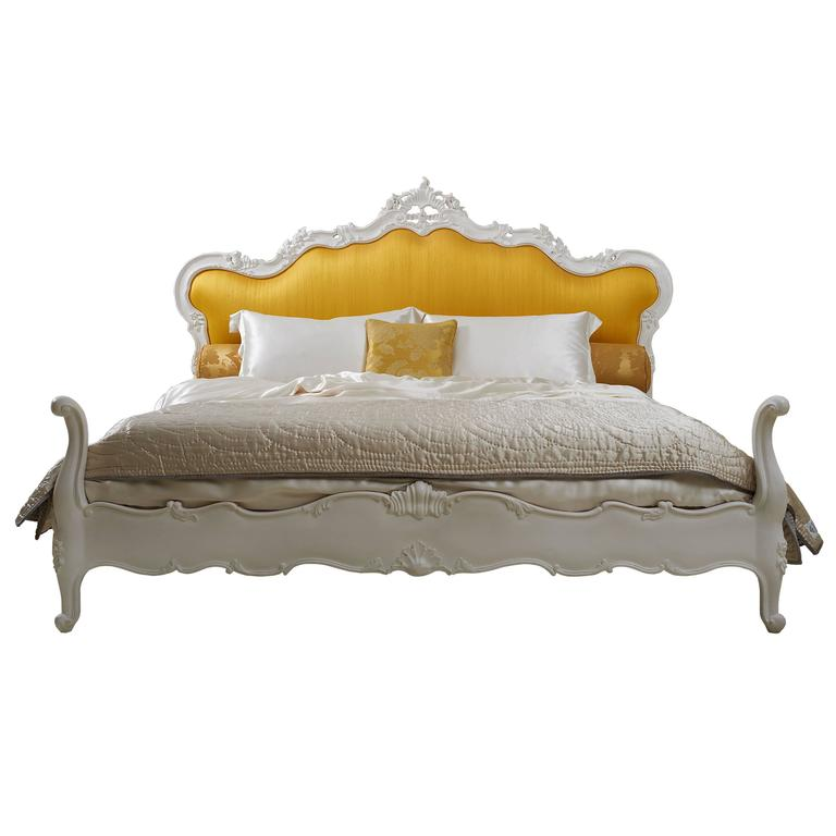Hand Carved Bed: Hand -Carved Louis XV Style 'Parisienne Bed' Reproduced By
