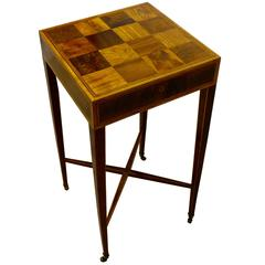Elegant George III Parquetry Specimen Wood Occasional Table, circa 1780