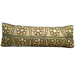 18th Century Silk Metallic Pillow