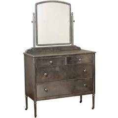 Steel Sheraton-Style Simmons Dresser with Mirror, circa 1928
