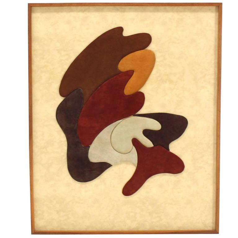 Large Wall Fabric Art Plaque Sculpture For Sale at 1stdibs