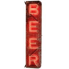 Double-Sided Vertical Beer Sign, circa 1935