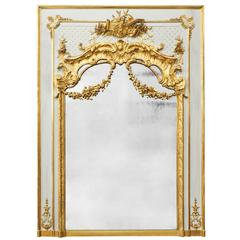 Antique French, Louis XVI Gold Leaf Trumeau