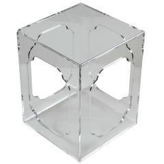 Hollyhock Meiji Acrylic Table in Clear