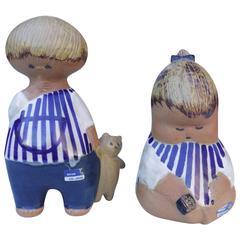 Adorable Mid-Century Ceramic Children by Lisa Larson