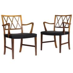 Ole Wanscher, Pair of Rosewood Armchairs for A. J. Iversen