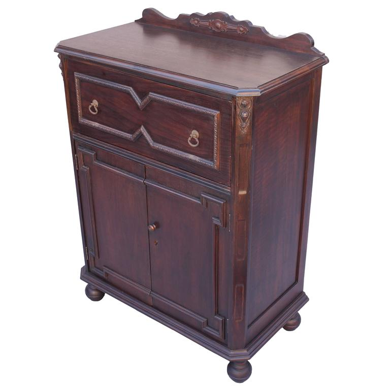 1920s Angeles Furniture Company Writing Desk or Cabinet For Sale ...