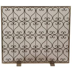 Custom Wrought Iron Fire Screen