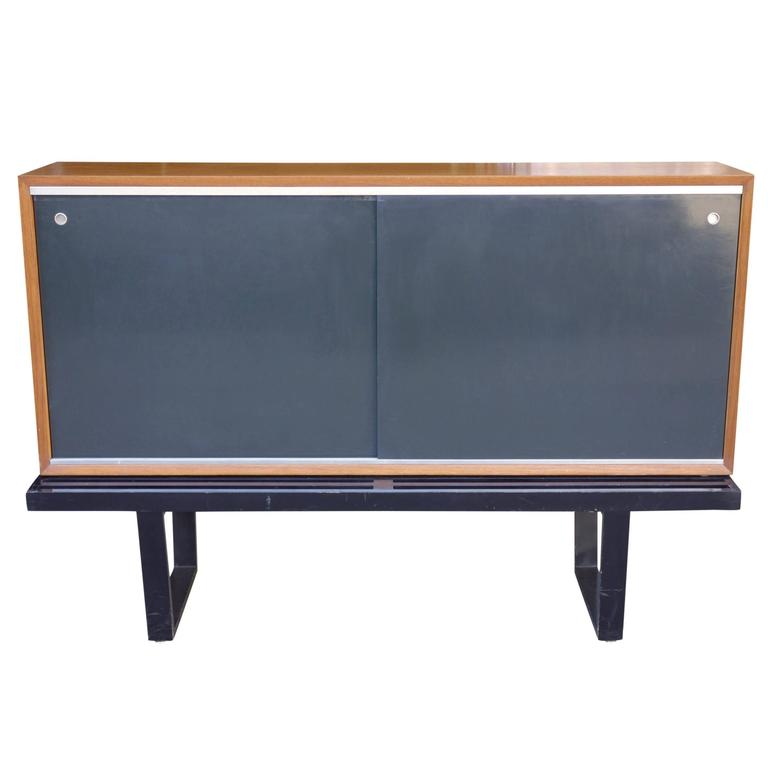 Mid-Century George Nelson for Herman Miller Cabinet or Credenza on Slat Bench