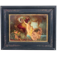 Antique Oil Painting Tannhauser & Venus