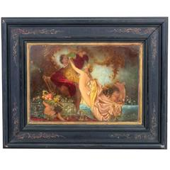 Antique Oil Painting Tannhauser & Venus