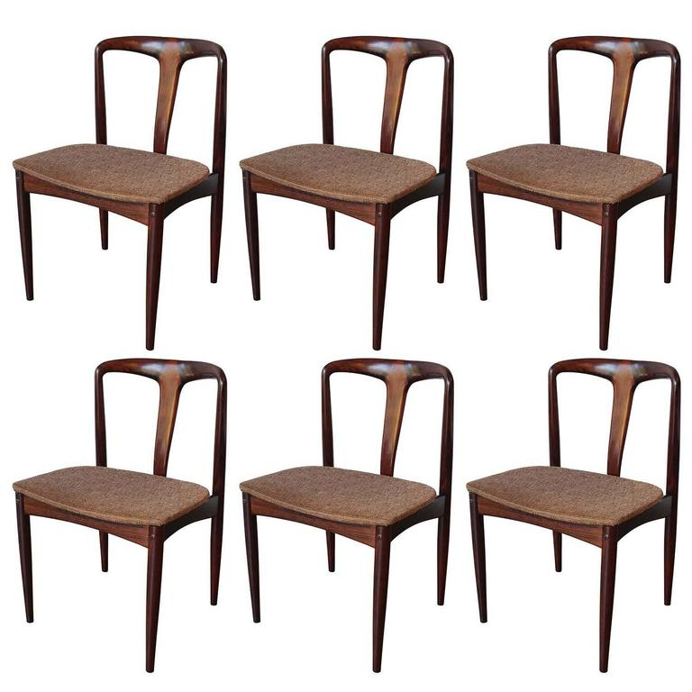 Six Johannes Andersen Rosewood Dining Chairs 1