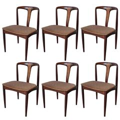 Six Johannes Andersen Rosewood Dining Chairs